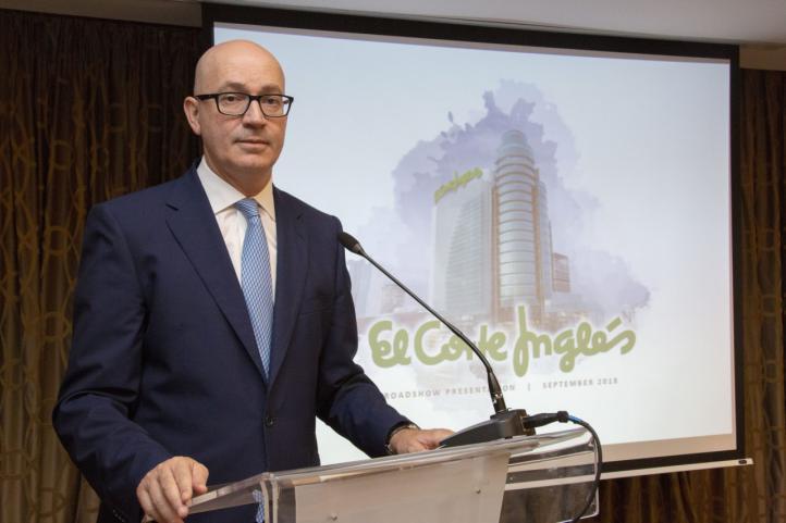 Jesús Nuño de la Rosa, presidente de El Corte Inglés en el roadshow de la emisión de bonos en Madrid