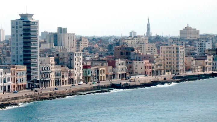Vista del Malecón de la Habana
