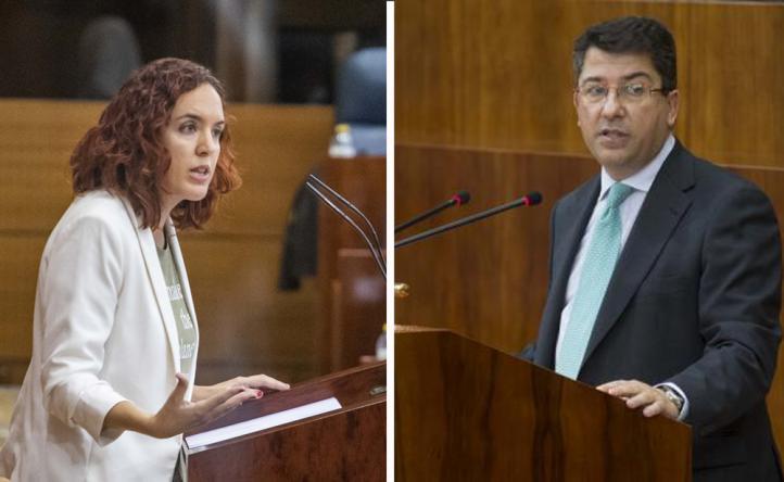 María Pastor, de Más Madrid y Pedro Muñoz Abrines del Partido Popular