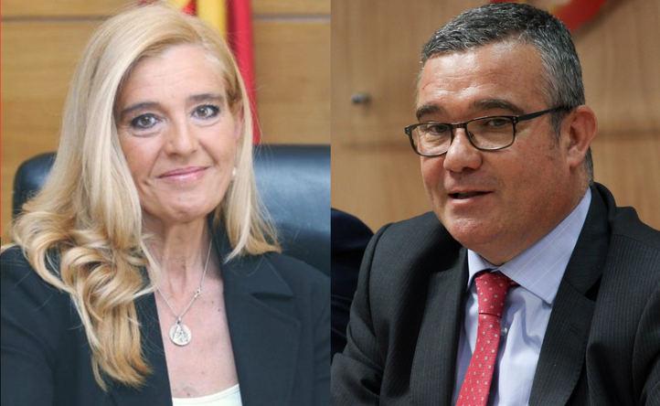 Mariola Vargas, alcaldesa de Villalba y Guillermo Hita, alcalde de Arganda del Rey