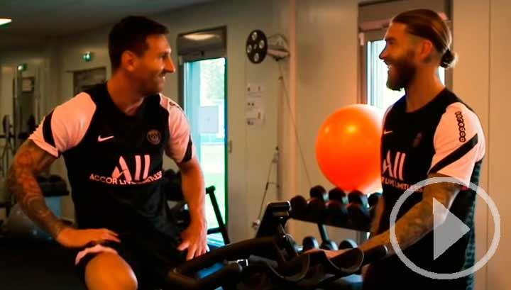 Ramos y Messi ya entrenan juntos