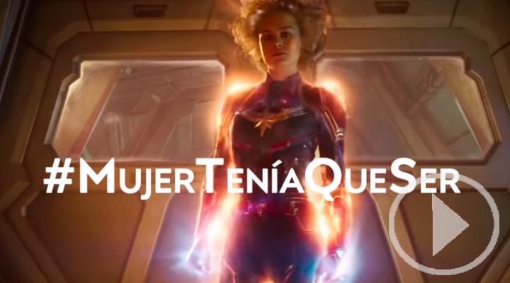 Capitana Marvel con el deporte femenino español