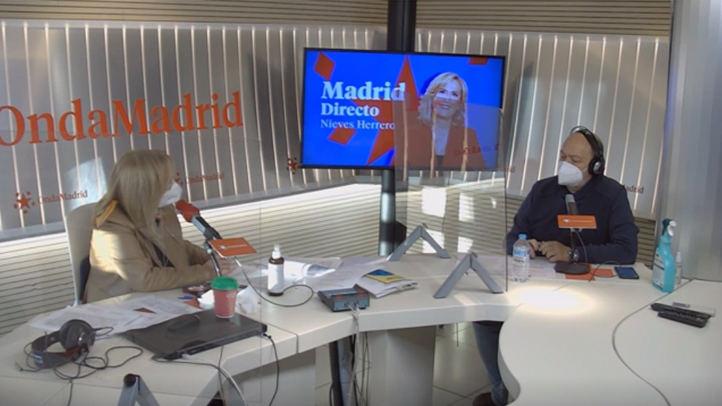 Nieves Herrero y Constantino Mediavilla en el estudio del programa Madrid Directo
