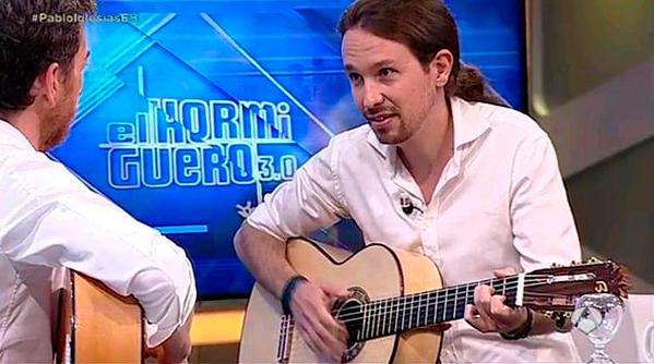 Entre Pablo Iglesias y Pablo Motos no hubo sintonía pero si canción