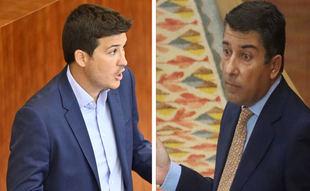 Pablo Gómez Perpinyà de Más Madrid y Pedro Muñoz Abrines del Partido Popular en la Asamblea de Madrid.