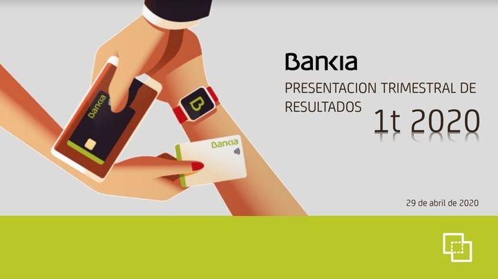 Bankia obtiene un beneficio de 94 millones de euros hasta marzo, tras adelantar provisiones por el Covid-19