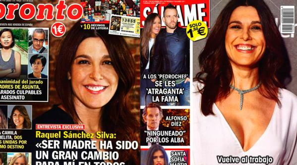 Raquel Sánchez Silva reina de las portadas de las revistas del lunes