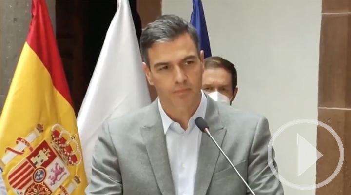 Sánchez anuncia en La Palma un plan especial de 206 millones para la isla
