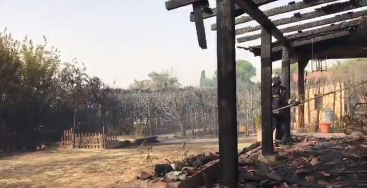 Cinco heridos leves en el incendio de Alalpardo, ya controlado