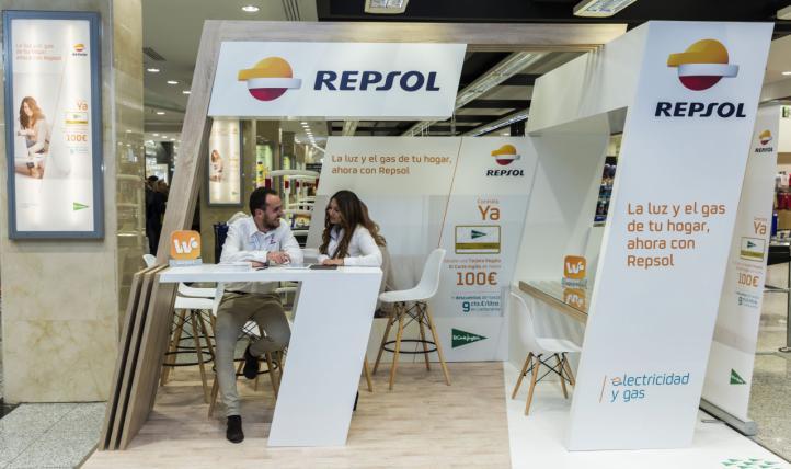 El Corte Inglés amplía a 22 los puntos de contratación de electricidad y gas de Repsol