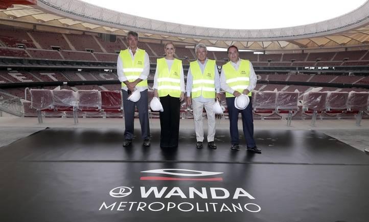 Visita a las obras de Wanda Metropolitano