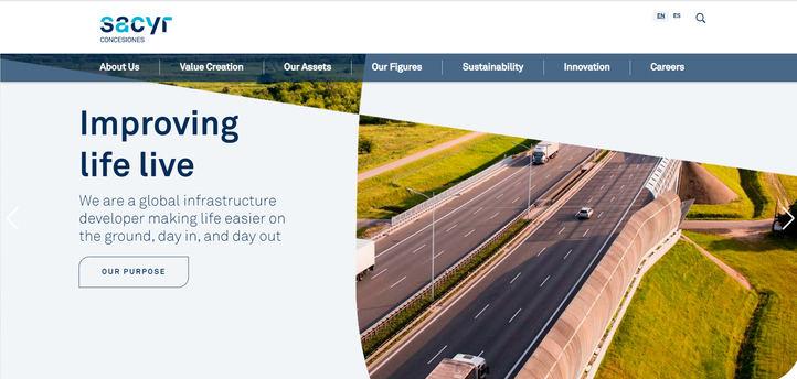 Página web de Sacyr Concesiones