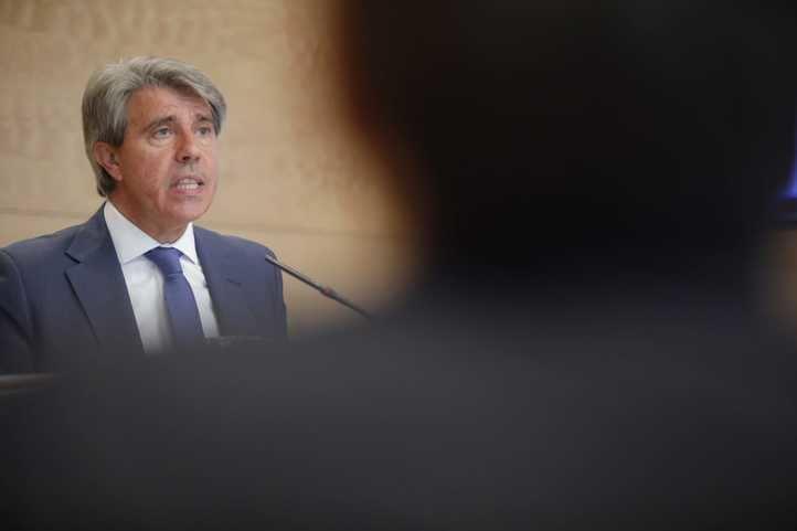 Ángel Garrido y Engracia Hidalgo, este martes tras la reunión del primer Consejo de Gobierno del curso.