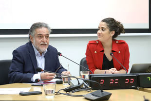 Pepu Hernández y Enma López presentan Metrópoli, su alternativa a los Presupuestos de PP y Ciudadanos.