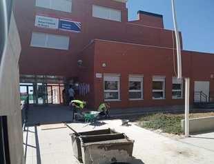 Uno de los colegios afectados por las obras