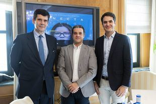 José María Sanz-Magallón, director General de Fundación Telefónica, Mario Santiago, responsable Cuentas estratégicas InfoJobs y Luis Miguel Olivas, director de Empleabilidade Fundación Telefónica.