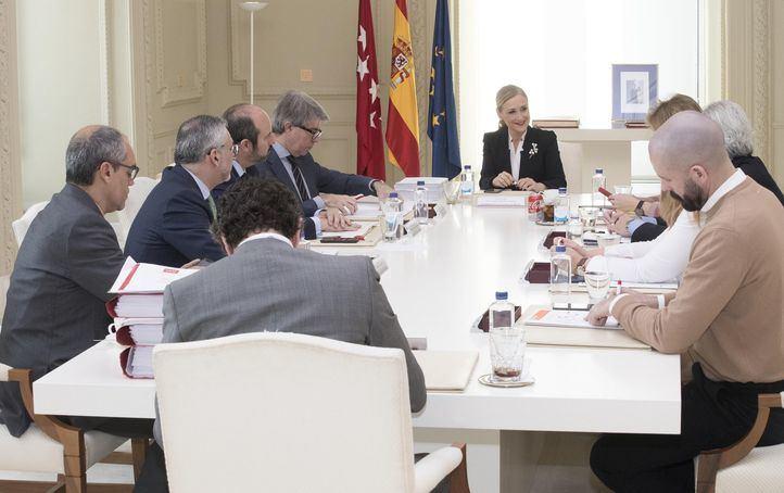 Reunión del Consejo de Gobierno, este martes, con Cristina Cifuentes