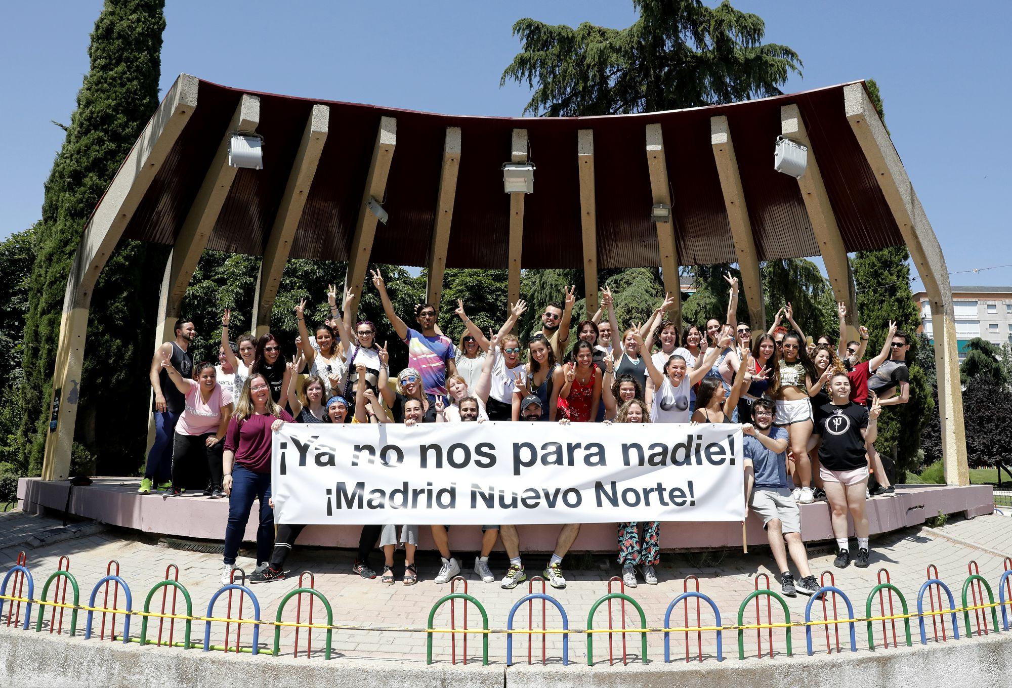 Madrid Nuevo Norte es respaldado a ritmo de flashmob por los vecinos de Chamartín