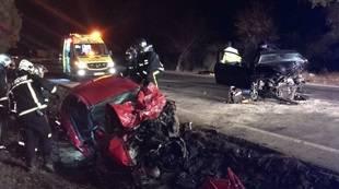 Dos muertos en un choque frontal en Campo Real