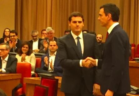 PSOE y Ciudadanos sellan un acuerdo de investidura