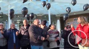 Afectados por la venta de viviendas del IVIMA protestan en Plaza de Castilla