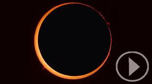 El último eclipse anular solar del 2019