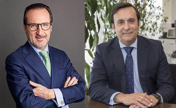 Francisco Aranda, presidente de UNO y Eduardo Pastor, presidente de COFARES.
