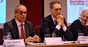 El consejero de Educación, Rafael van Grieken, fue el invitado de honor de la II Asamblea de directores de Escuelas Católicas de Madrid.