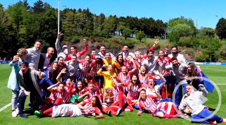 Así fue la celebración de las chicas del Atlético de Madrid