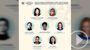 Biden nombra a un equipo de comunicación sólo por mujeres