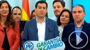Andalucía da un giro histórico a la derecha