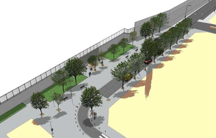 Recreación de cómo quedará la calle Téllez una vez el Ayuntamiento la reforme para que albergue un nuevo memorial del 11-M.