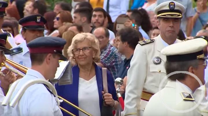 Carmena muestra admiración por la Policía Municipal