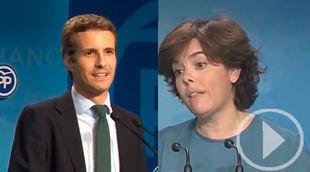 Santamaría y Casado cerrarán su campaña en Madrid