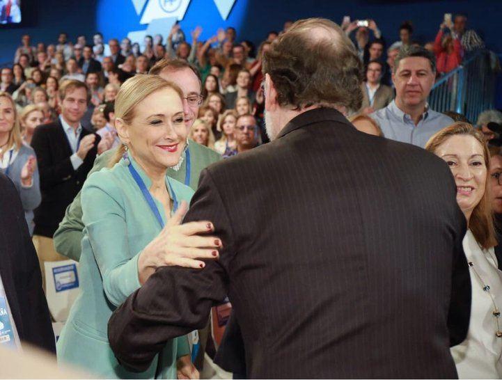 Cristina Cifuentes y Mariano Rajoy, este fin de semana en la convención del PP en Sevilla