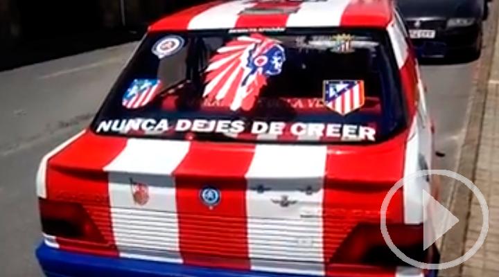 Así luce de orgulloso este coche Atlético