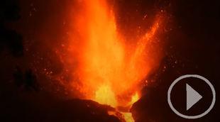 Colapsa parte del cono del volcán