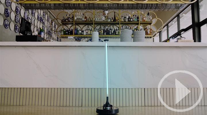 Un robot que garantiza espacios libres de virus
