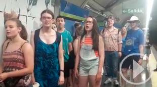 Sorpresa musical en el metro de Chueca