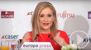 Cristina Cifuentes en los Desayunos de Europa Press