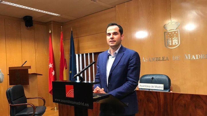 Ignacio Aguado, este martes en la Asamblea