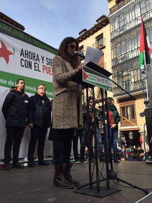 Clara Lago lee el manifiesto