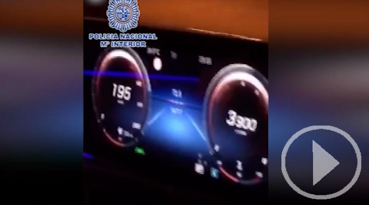 Detenido un futbolista por conducir a 200 km por hora