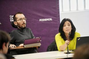 El secretario de Organización de Podemos, Pablo Echenique, en la reunión extraordinaria del Consejo Ciudadano Estatal.