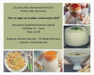 """Primer taller de cocina a favor de la ELA """"Pon un yogur en tu plato'"""