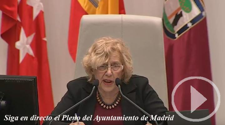 Sigue en directo el Pleno del Ayuntamiento de Madrid.