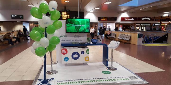 DCN, en la Estación de Chamartín para informar de Madrid Nuevo Norte