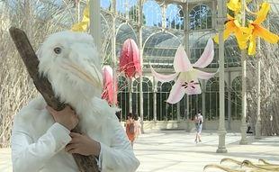 El Reina Sofía llena de flores gigantes el Palacio de Cristal del parque de El Retiro