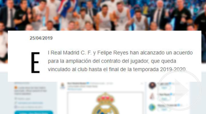 Felipe Reyes renueva con el Real Madrid