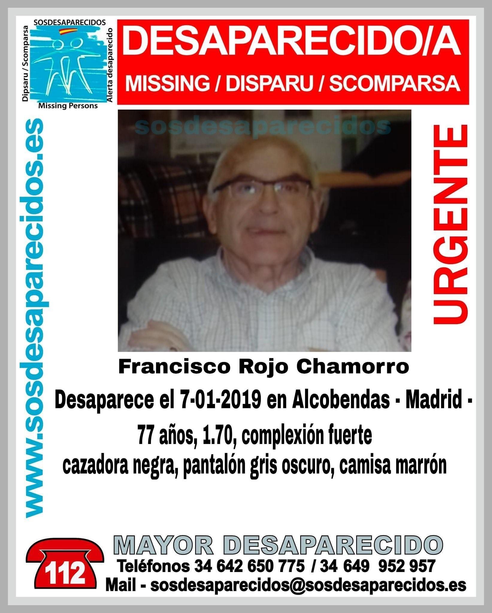 Desaparecido en Alcobendas.